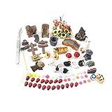 Yardwe Mini Landschaft Ornament Set Modelle Garten Skulptur DIY Grten Miniatur Puppenhaus Home Deko 99 Stück
