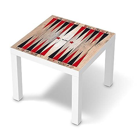 Design-Folie für IKEA Lack Tisch 55x55 cm | Baby-zimmer Möbeltattoo Bedruckte Klebe-Folie | Ideen für Erlebnisraum Kinderzimmertapete | Kids Kinder Spieltisch Backgammon (Retro Backgammon)