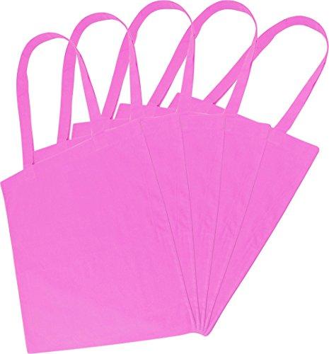 Sacchetto di stoffa Borsa della spesa Borsa in 100% cotone in vari colori Rosa