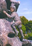 Arne mini Bronzefigur Skulptur aus Bronze echte Handarbeit Gartenskulptur Gartenfigur Garten-Statue