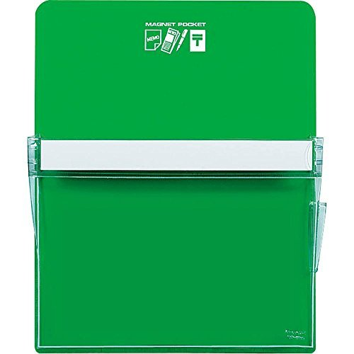 Kokuyo White Board Magnet pocket Approximately 205 sheets A4 paper green maker -500 NG Japan