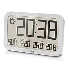 Idea Regalo - Oregon Scientific JW108 Barometro Digitale da Parete con Indicazione Temperatura In/Out, Bianco