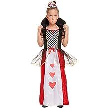 Disfraz infantil de la Reina de Corazones de Alicia en el País de las  Maravillas bd83dcf6099