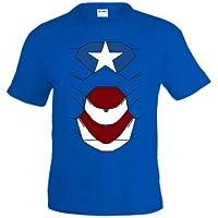 Camiseta Ironman - PATRIOT , Azul manga corta (Talla: TALLA-XXL) - Cosmética y perfumes - Comparador de precios
