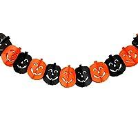 MHA UK branded Halloween spooky black & orange pumpkin paper chain garland bunting decoration