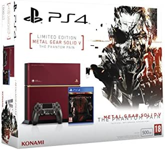 PlayStation 4 - Consola, Color Rojo + MGS V: Phantom Pain