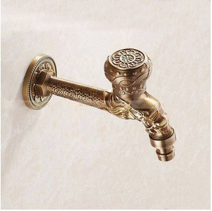 Diongrdk Alle Kupfer Twist Base, Carving Aussehen, Küche Bad Waschmaschine Einzelzimmer Control Faucet Handle. -