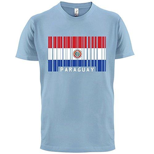 Paraguay / Republik Paraguay Barcode Flagge - Herren T-Shirt - 13 Farben  Himmelblau