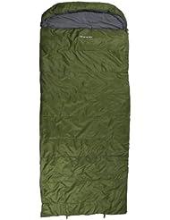 10T Kenai Green XXL Camping Schlafsack bis -21°C Outdoor Deckenschlafsack 235x100 cm Hüttenschlafsack mit 2650g Trekking Reiseschlafsack für 3 / 4 Jahreszeiten Frühling Sommer Herbst
