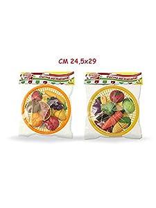 Teorema Juguetes-Frutas y Verduras con Cesta, Multicolor, 3.te65531