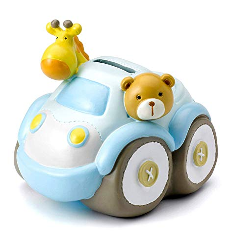 Mousehouse Gifts - Kinder Spardose - Safari-Auto - Geschenk für Jungen & Mädchen (Kleine Jungen Sparschwein)