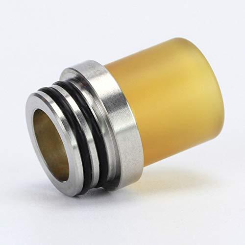 1 stück 810 auf 510 Adapter Kühlkörper 510 PEI Tropfspitze Für TFV8 TFV8 Big Baby Zerstäuber Konverter Frei von Tabak und Nikotin (Color : YELLOW) Cig-adapter