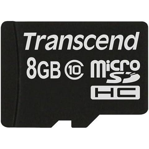 Transcend TS8GUSDC10M - Tarjeta MicroSD de 8 GB (clase 10, Micro SDHC)