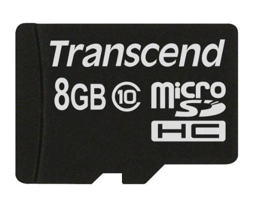 Transcend microSDHC10 Premium 8GB Class 10 Memory Card