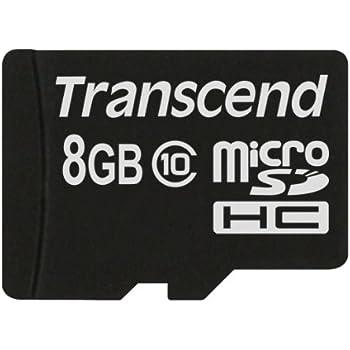 Transcend TS8GUSDC10 - Tarjeta de Memoria microSDHC de 8 GB ...