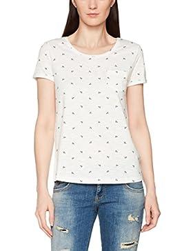 Tom Tailor Denim Printed Slub Tee, Camiseta Para Mujer