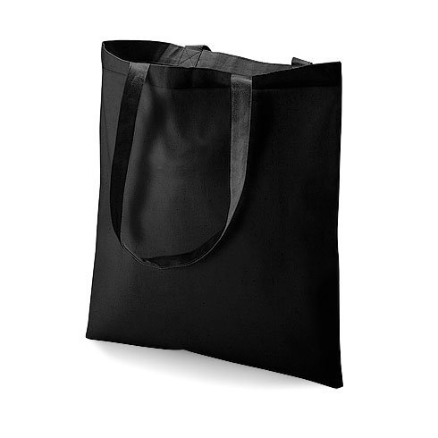 Westford Mill Cotton Shoulder tote bag in Black