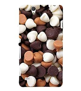 Choco Chips 3D Hard Polycarbonate Designer Back Case Cover for Sony Xperia C4 Dual :: Sony Xperia C4 Dual E5333 E5343 E5363