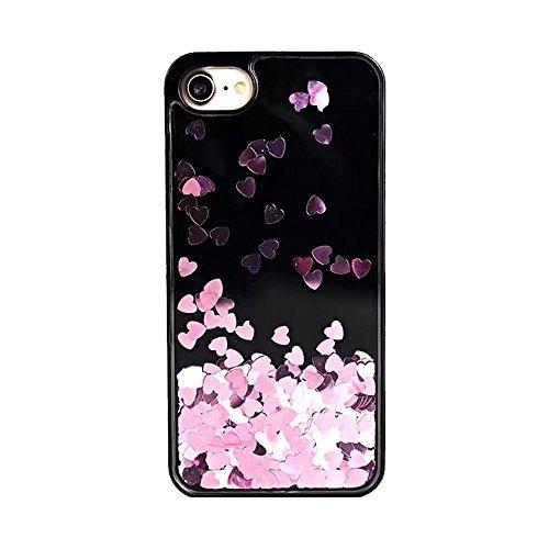 für iPhone 6 Plus Handyhülle,Dewanxin 2018 Dynamische Treibsand-Liebe Paar Handy-Shell Design PC+TPU Telefon-Kasten Protective Case Cover (iPhone6 Plus Handyhülle, B) (B)