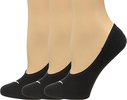 Nike Damen Socken No Show Lightweight 3er Pack, Black/White, S (Nike Schwarz Socken No-show)