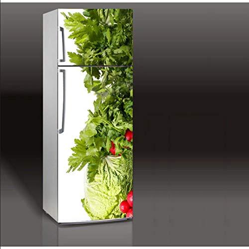 3D frigorifero copertina carta da parati auto-adesivo frigorifero congelato pasta rotto mattoni immagine carta bambini arte f2 60x150cm
