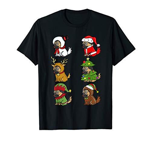 Deutscher Schäferhund Xmas Kostüme Weihnachten Geschenk T-Shirt