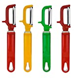 Avenue AVMART Steel Vegetable Peeler Chopper Cutter for Home & Kitchen (Red, Yellow, Green) - Set of 4