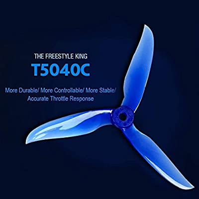 12pcs 5040 5 Inch 3-Blades CW CCW Tri-Blade Propeller, T5040C Prop Best Stuiable for 200 210 220 230 250 FPV Racing Drone Quadcopter Frame Kit (Black, Red, Blue)