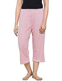 PDPM Women s Hosiery Knitted Cotton Capri Night Lower Loungewear   Nightwear 8fdafdb9e