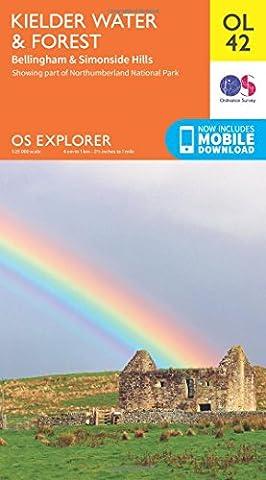OS Explorer OL42 Kielder Water & Forest (OS Explorer Map)