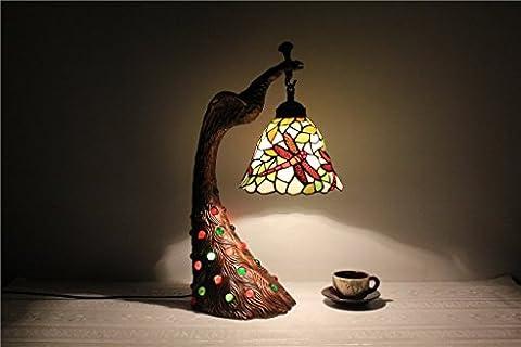 DELLT-8-Zoll-Simple Atmosphäre retro kleine Libelle dekorative Lampe Tiffany Glasmalerei Lampentechnologie Lampe
