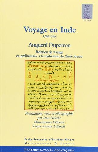 Voyage en Inde, 1754-1762 : Relation de voyage en prliminaire