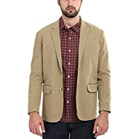 Zobello Khaki Solid Casual Blazer(51168A_Khaki Brown_M)