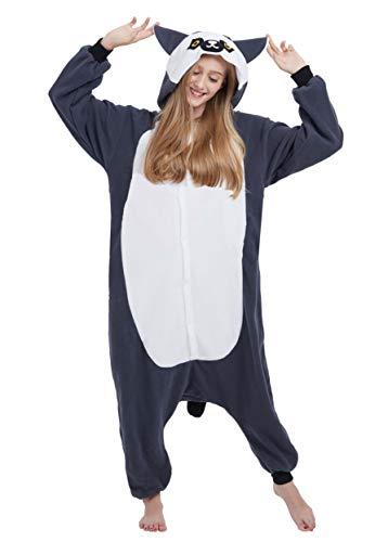 Karton Kigurumi Fasching Halloween Kostüm Lounge Sleepsuit Cosplay Overall Pyjama Schlafanzug Erwachsene Unisex Long Tail AFFE for Höhe 140-187CM ()