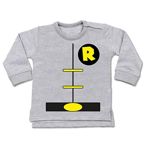 Shirtracer Karneval und Fasching Baby - Superheld Kostüm Kind - 6-12 Monate - Grau meliert - BZ31 - Baby - 6 9 Monate Superman Kostüm