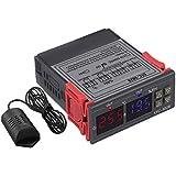 SODIAL Stc-3028 Medidor De Humedad De Temperatura Digital 110-220 V 10A Termostato Pantalla Dual Termómetro Higrómetro Contro