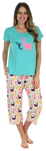 Tee & Capri Poly Pajamas (SH1831-4081-EU-XL)