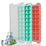 2 Stück Eiswürfelform Mit Deckel 36 Fach Eiswürfel Eiswürfelform BPA frei Silikon Ice Tray Ice Cube Eiswürfelbox Ice Tray Ice Cube