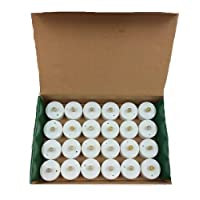 Battery Operated Flickering Flameless LED Tea Light Candles (Pack of 24)
