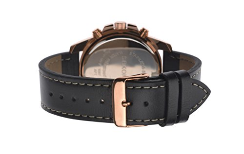 Sekonda-Mens-Quartz-Watch-with-Rose-Gold-Dial-Chronograph-Display-and-Black-Leather-Strap-108727