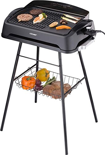 Cloer 6750 Grill Tabletop Electric 2000 W Black Grill – Barbecues & Grills (2000 W, Grill, Electric, Tabletop, Grate, Black)