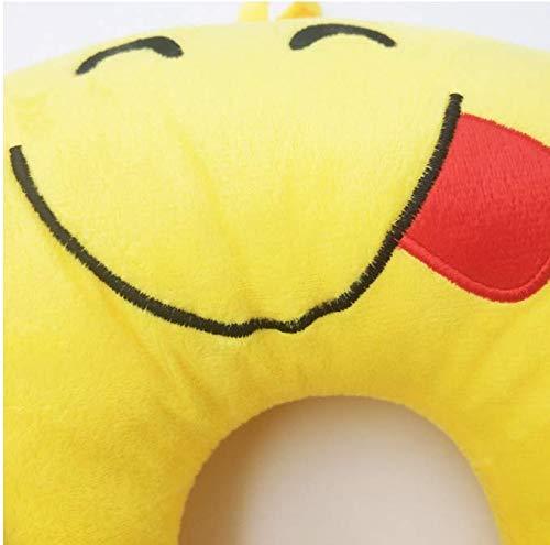 Cuscino gonfiabile Simpatico cartone animato A forma di U Cuscino di sostegno Cuscino Kawaii Animale Cuscini morbidi da viaggio Per ufficio Pettine Volo aereo 30 * 30 * 11 cm