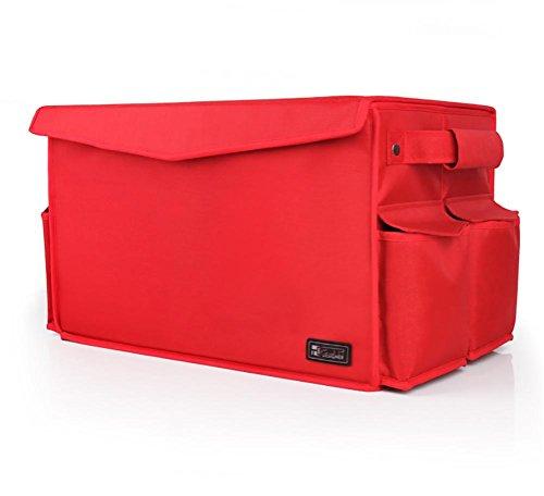 RUIRUI scatola di immagazzinaggio tronco di automobile box auto di stoccaggio di finitura vano portaoggetti pieghevole , red