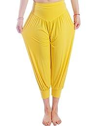 HOEREV® Super Soft Modal Spandex Harem Yoga Pilates Pantalons Capri des femmes
