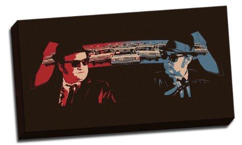 "Tela Blues Brothers, con stampa stile pop art, lunghezza 40,64 cm (16"") x 76,20 cm (30"") cm"