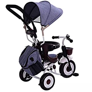 XHYX Children's folding tricycle, stroller baby 1-3-5 years old child riding bicycle   2