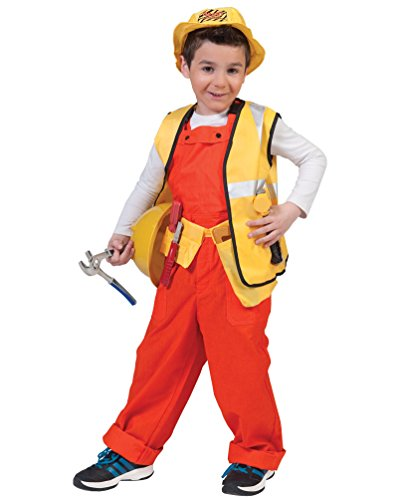 Pierro´s Kostüm Kinderkostüm Latzhose Bodo orange Kind Größe (Bauarbeiter Kostüme)