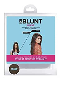 BBlunt B Hive Volume on Crown Clip on Hair Extension, Natural Brown