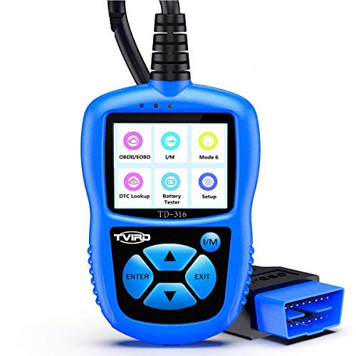 OBD2 Diagnosegerät,Tvird Auto Diagnosewerkzeuge Universal Diagnose Scanner für alle Fahrzeuge ab 2000 ,EOBD / CAN-Modi standardem 16-pin OBD-II Schnittstelle(Farbbildschirm)nicht für Dieselfahrzeuge