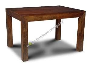Dakota Indian Furniture 120cm Dining Table Dining Room Furniture Kitchen Home